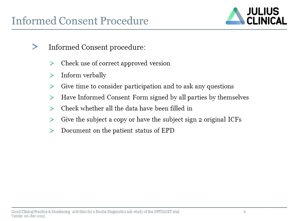 7 Attention points IC procedure Look out.