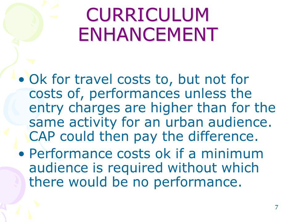 8 CURRICULUM ENHANCEMENT Short term specialist programs i.e.