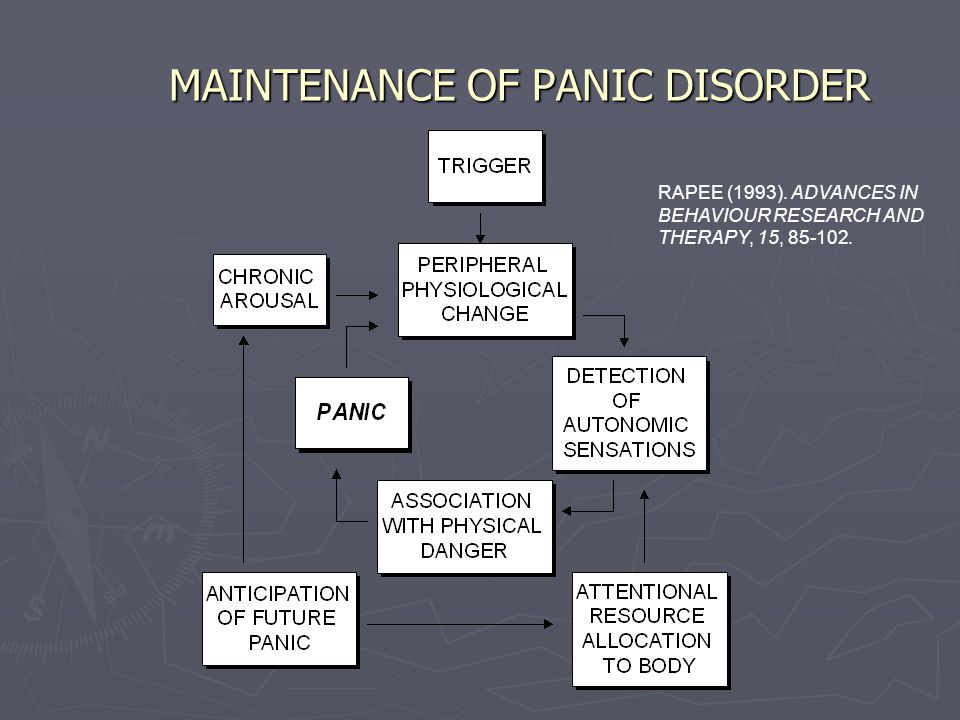 MAINTENANCE OF PANIC DISORDER RAPEE (1993). ADVANCES IN BEHAVIOUR RESEARCH AND THERAPY, 15, 85-102.