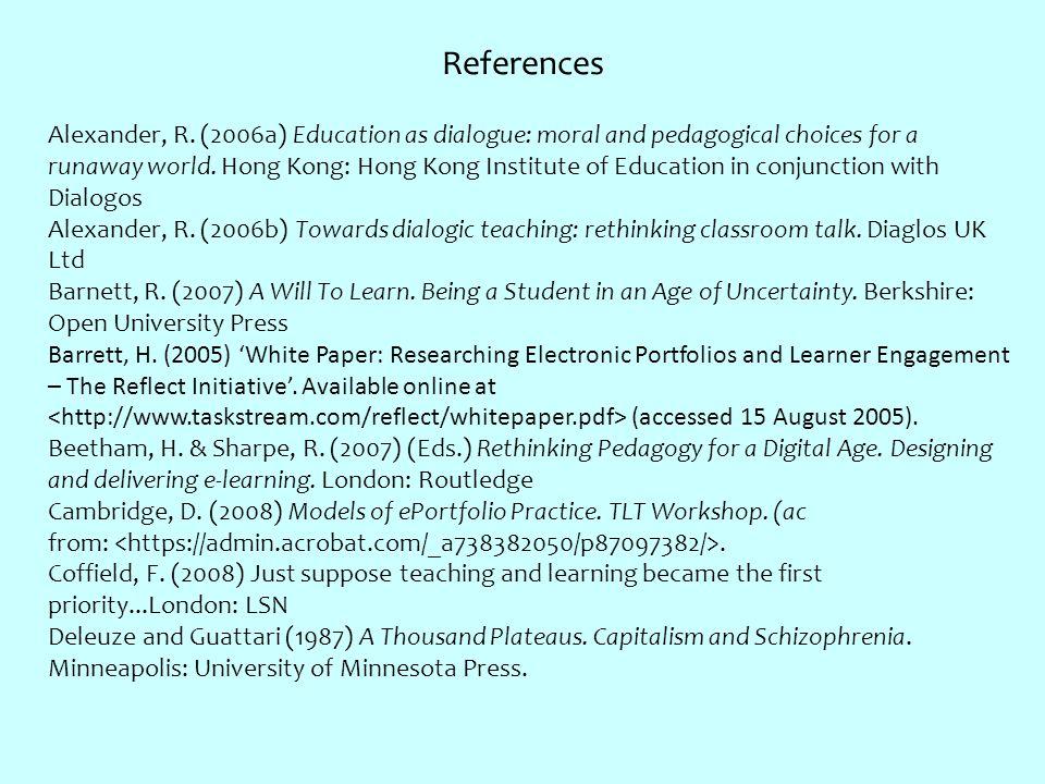 References Alexander, R.