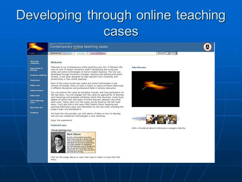 Developing through online teaching cases
