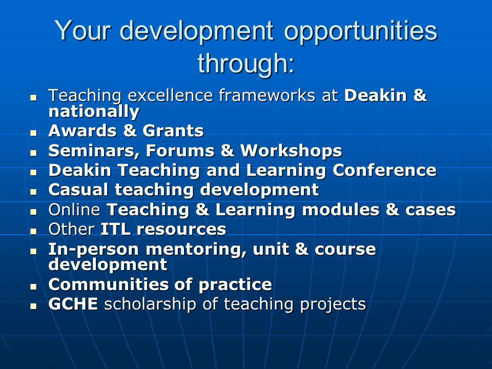 DEST Teaching and Learning Performance (TLPF) Funding…the iron fist!