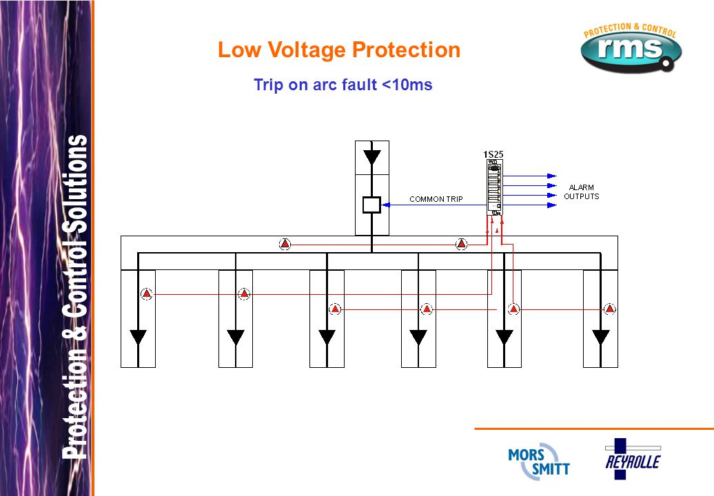Low Voltage Protection Trip on arc fault <10ms