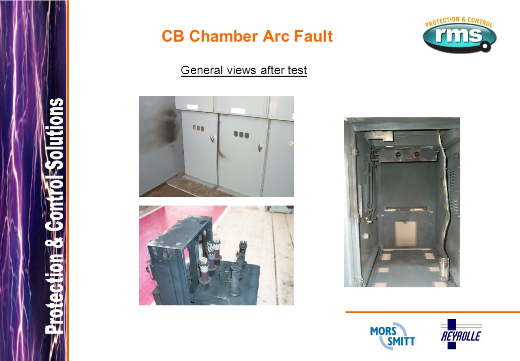 CB Chamber Arc Fault General views after test
