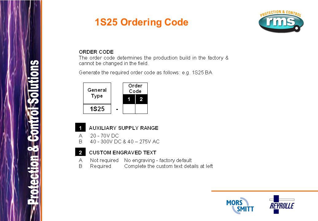 1S25 Ordering Code