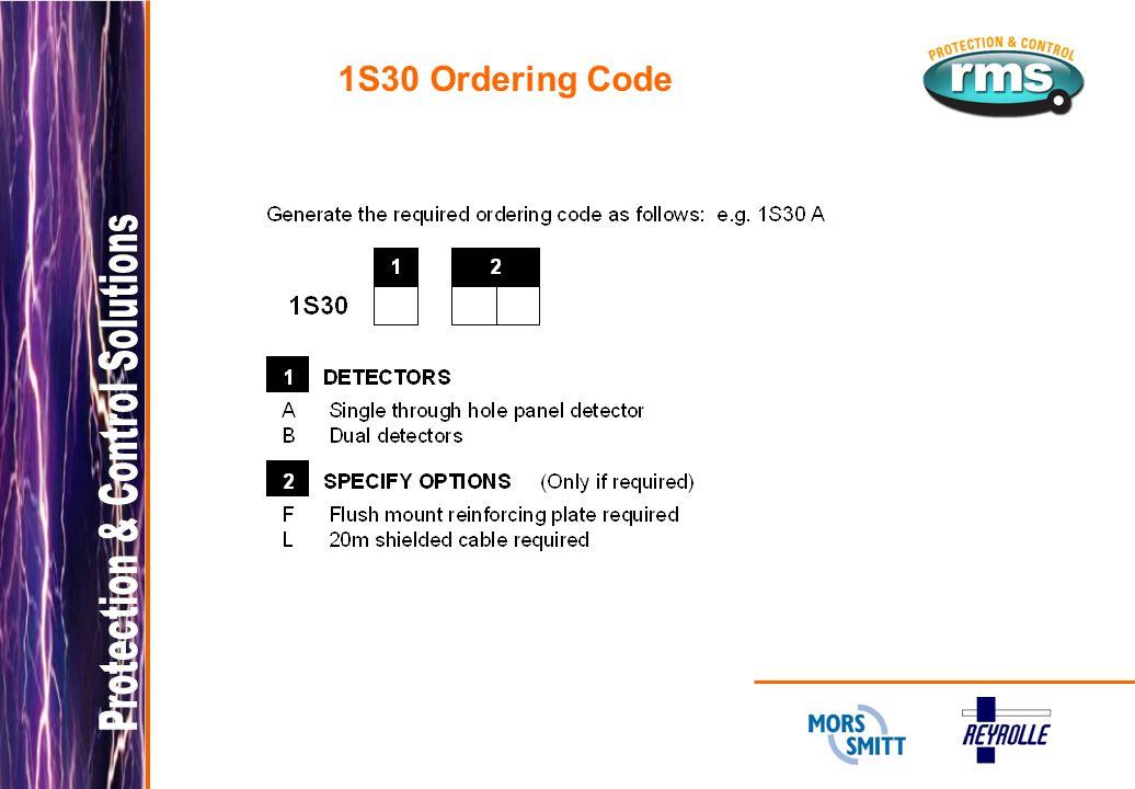 1S30 Ordering Code