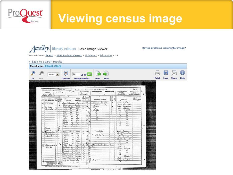 Viewing census image