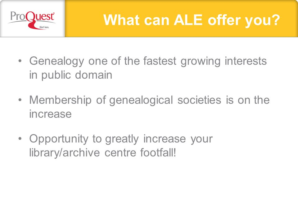 What can ALE offer you.