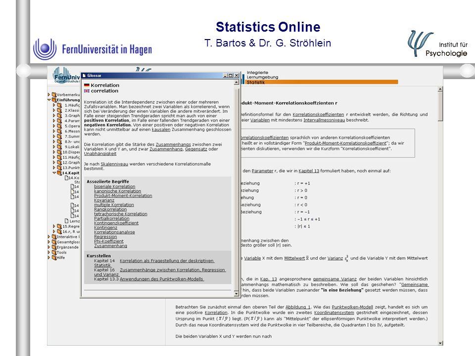 Statistics Online T. Bartos & Dr. G. Ströhlein