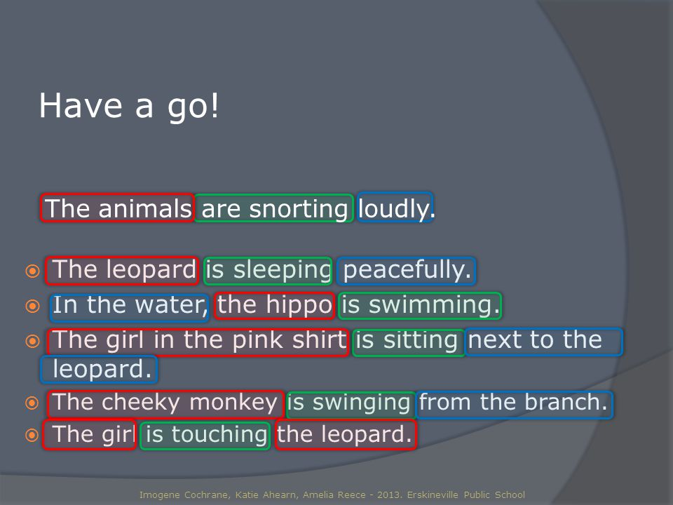  The leopard is sleeping peacefully.  In the water, the hippo is swimming.