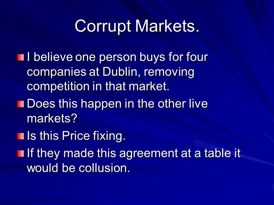 Corrupt Markets.