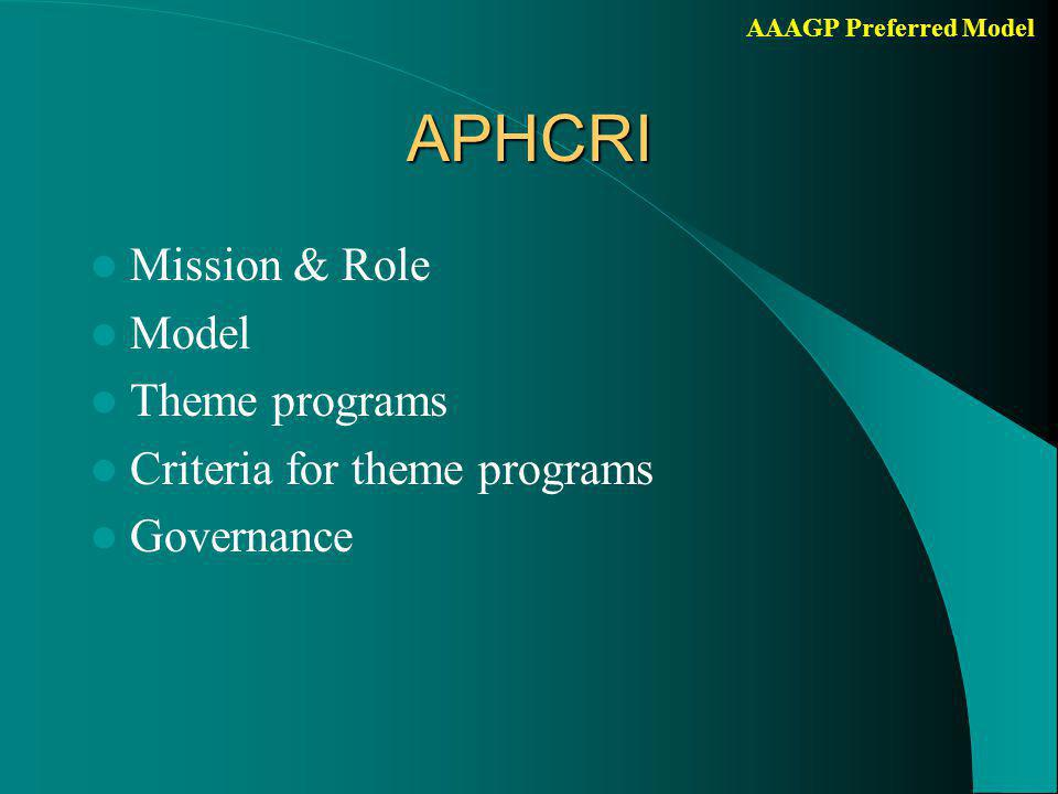 AAAGP Preferred ModelMission