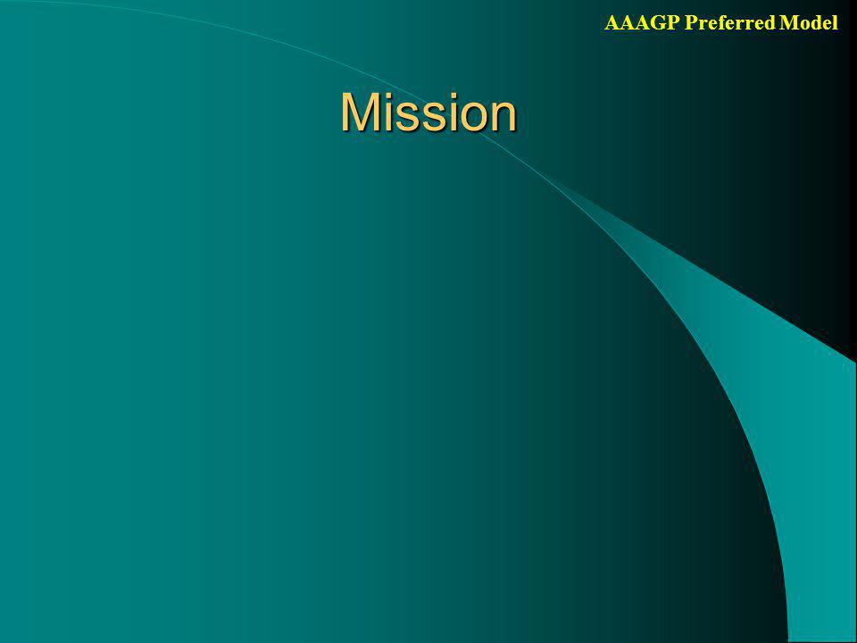 AAAGP Preferred Model Junior researchers/PhD trainees ct'd Daily project management Preparing PhD thesis (mean 4.6 years) (First) authorship of research articles Completing PhD training programme Learning more broadly than own subject Innovation Possibility to combine professional training (e.g.
