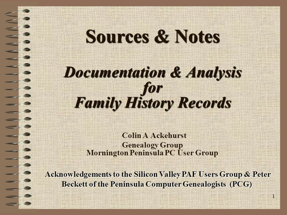 2 Topics Why Document .What is a Source.