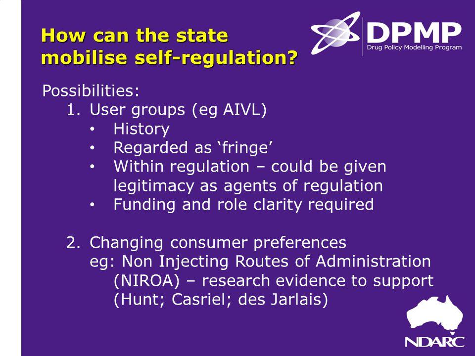 How can the state mobilise self-regulation.