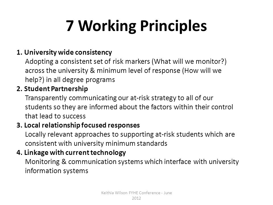 7 Working Principles 1.