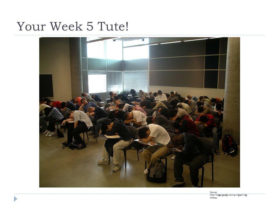 Your Week 5 Tute! Source: http://images.google.com.au/imgres imgu rl=http