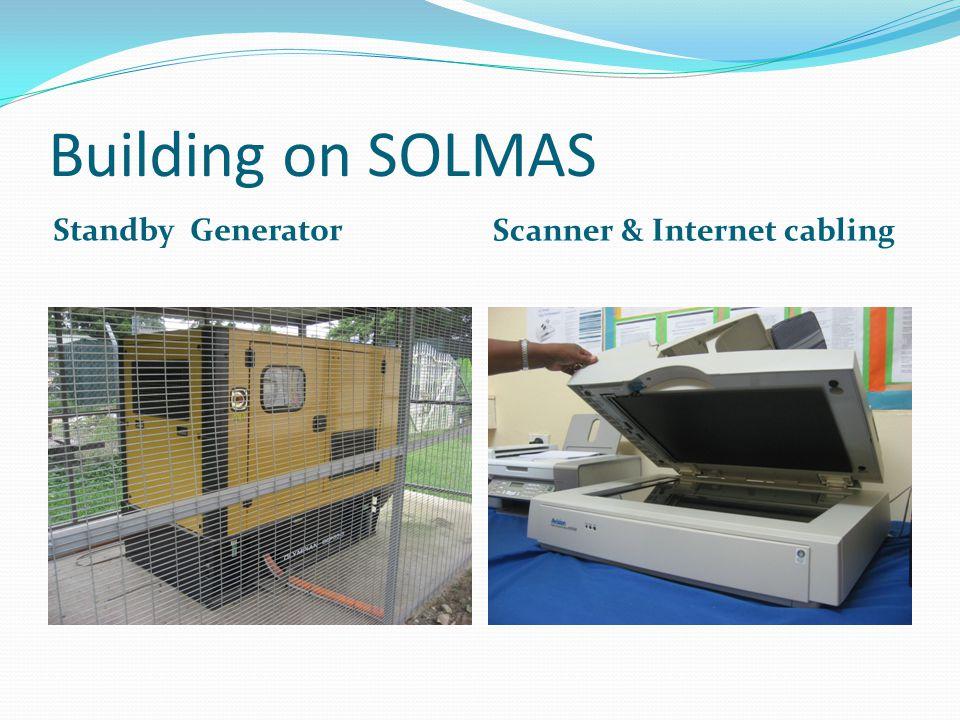 Building on SOLMAS Standby Generator Scanner & Internet cabling
