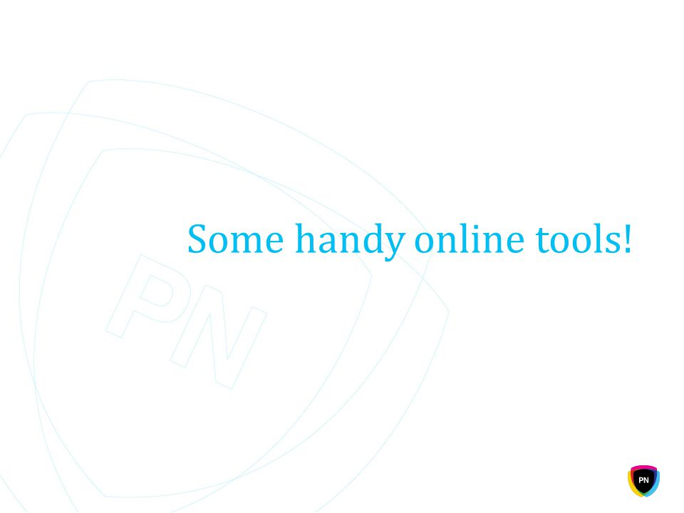 Some handy online tools!