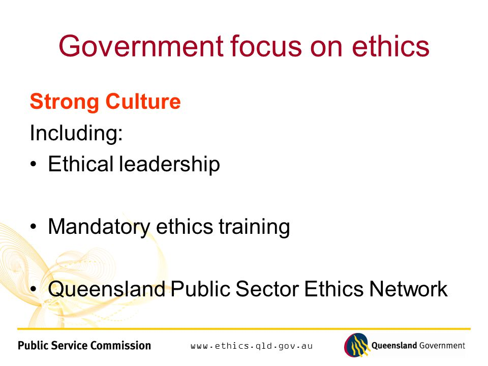 www.ethics.qld.gov.au Applying ethics to dilemmas Recognising ethical dilemmas risks and breaches