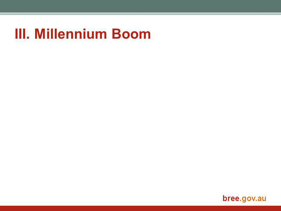bree.gov.au III. Millennium Boom