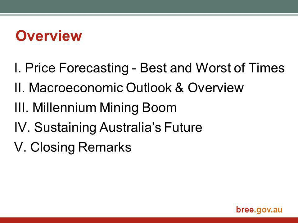 bree.gov.au Overview I. Price Forecasting - Best and Worst of Times II.