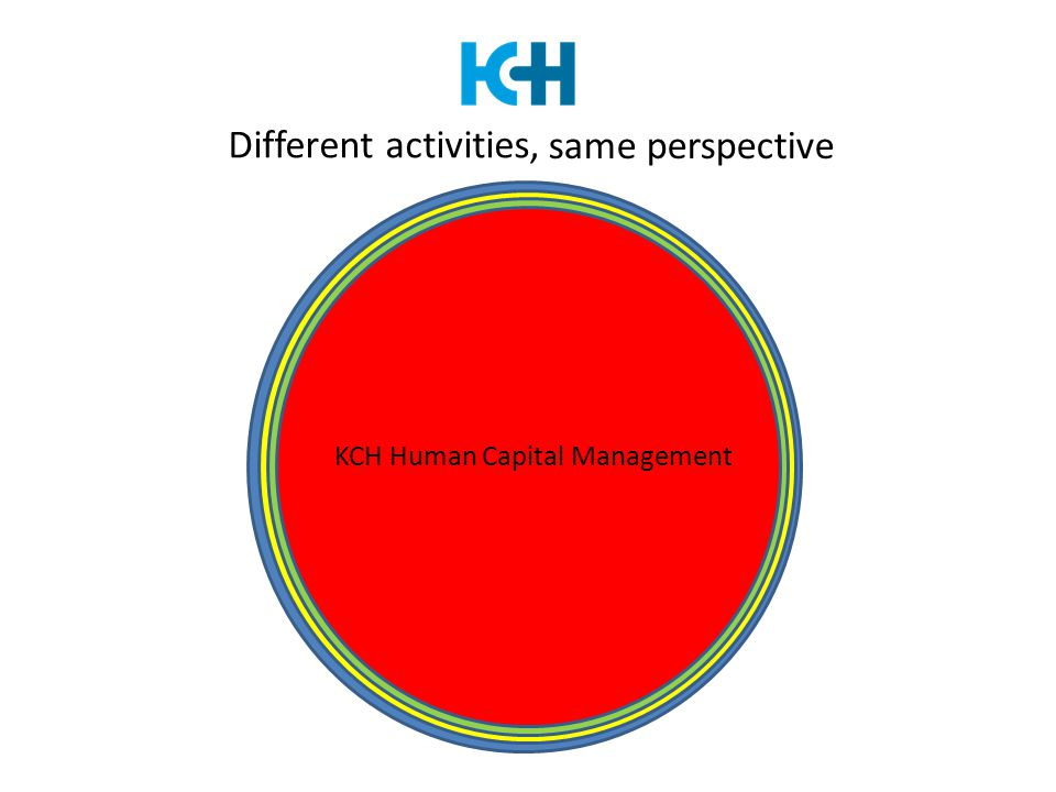 Different activities, KCH Knowledge Centre KCH Testing & Assessments KCH International KCH Human Capital Management same perspective