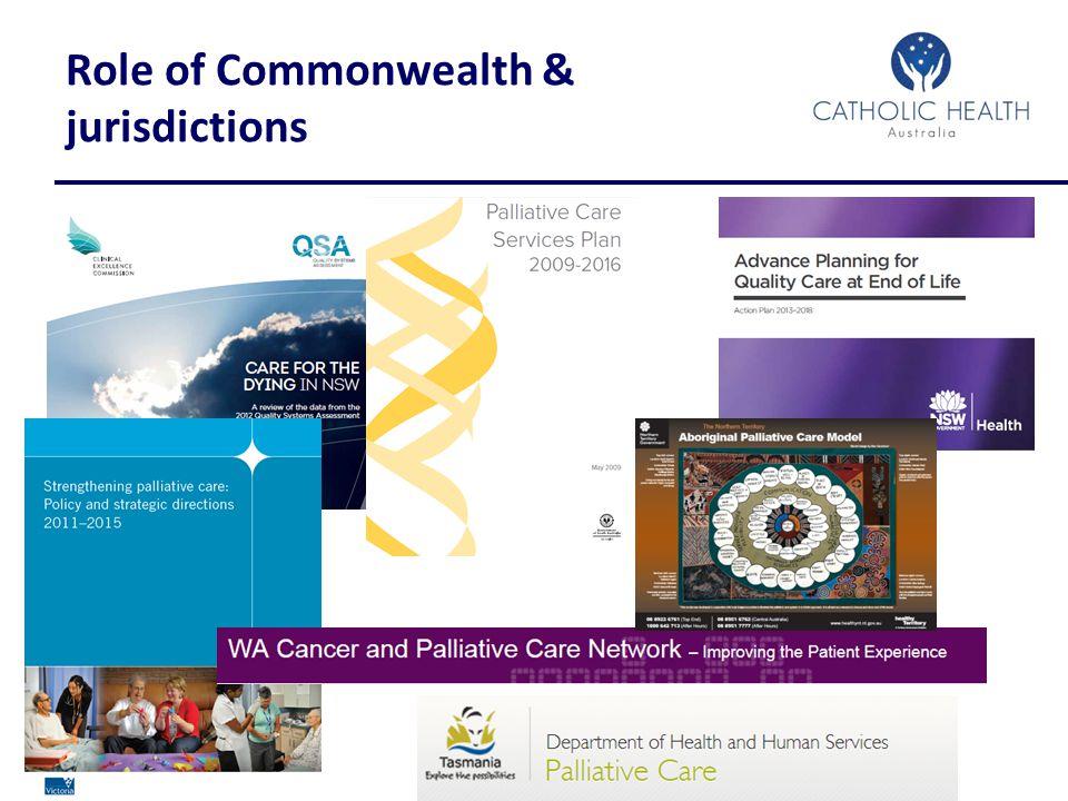 www.cha.org.au Role of Commonwealth & jurisdictions
