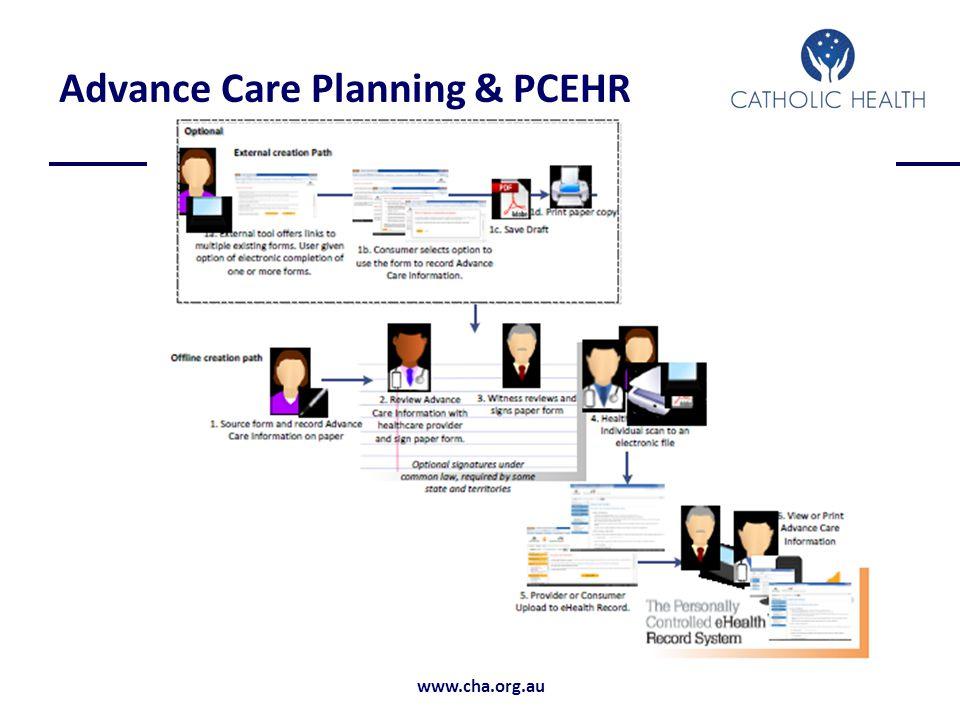 www.cha.org.au Advance Care Planning & PCEHR