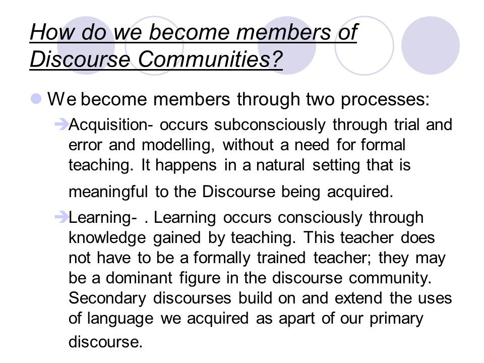 What are Discourse communities.