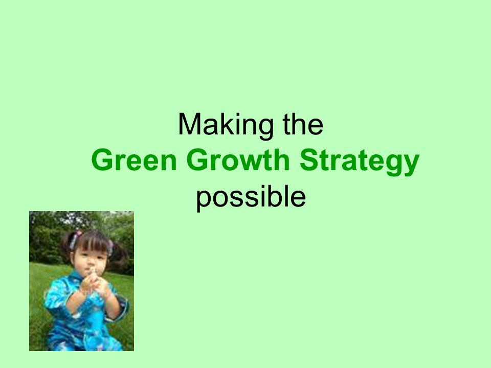 Making the Green Growth Strategy possible