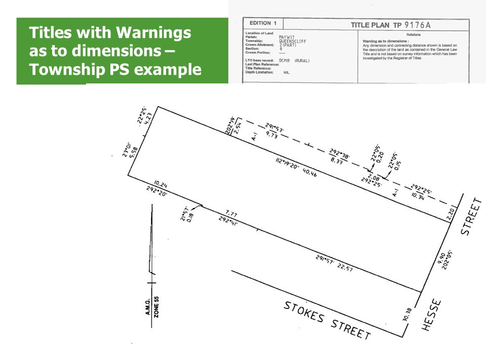 Titles with Warnings as to dimensions – Simple 26P example