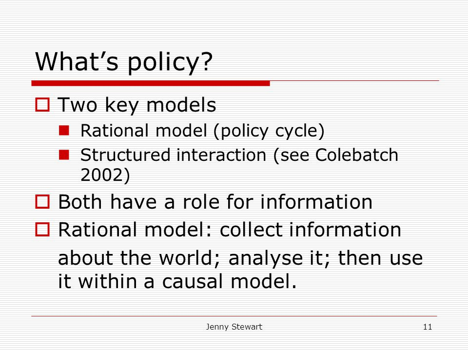 Jenny Stewart11 What's policy.