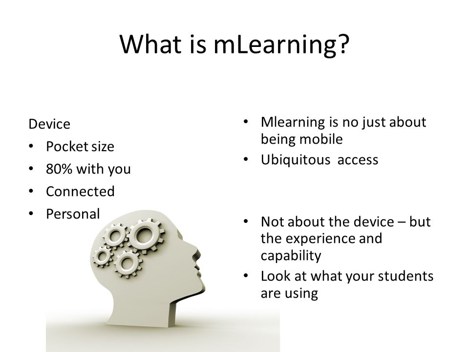 What is mLearning.