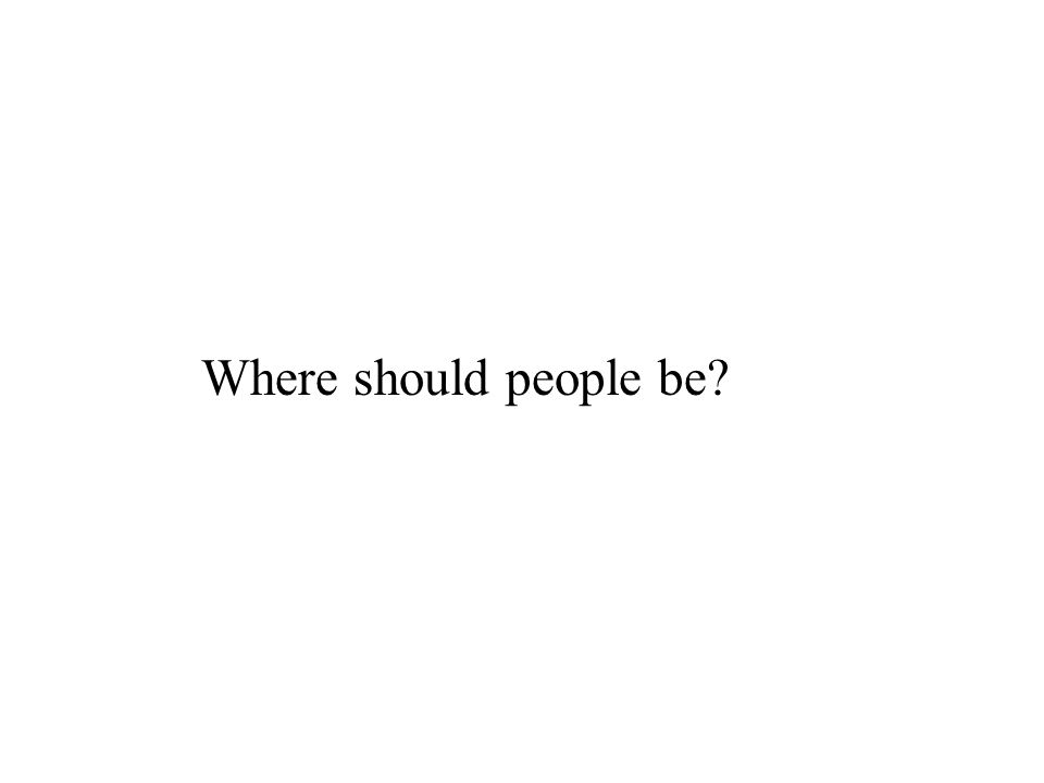 Where should people be