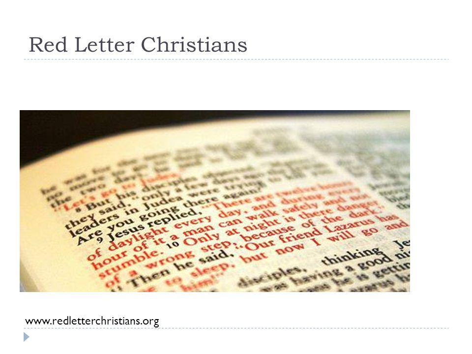 Red Letter Christians www.redletterchristians.org