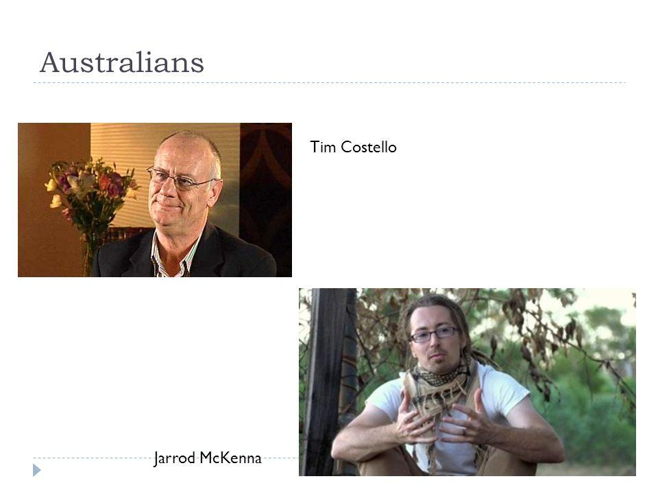 Australians Tim Costello Jarrod McKenna