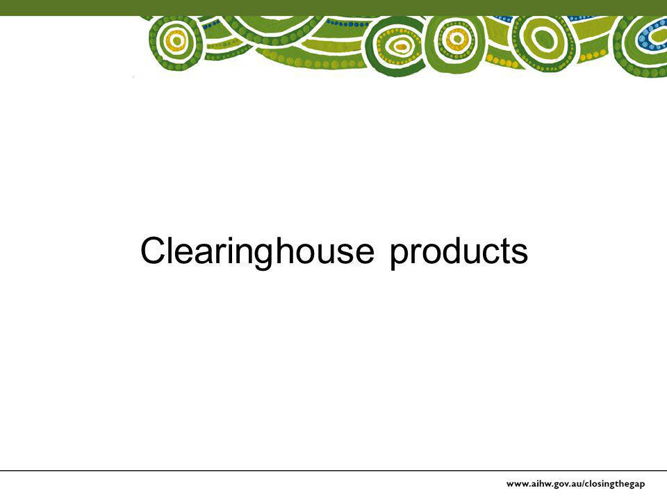 Clearinghouse products