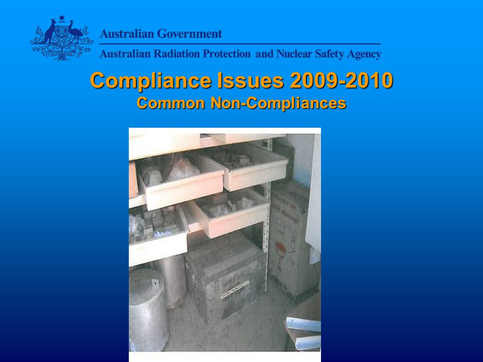 Compliance Issues 2009-2010 Common Non-Compliances