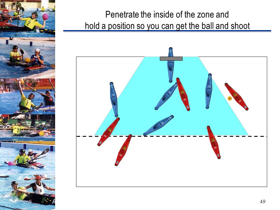 Penetrate the inside of the zone and hold a position so you can get the ball and shoot 49