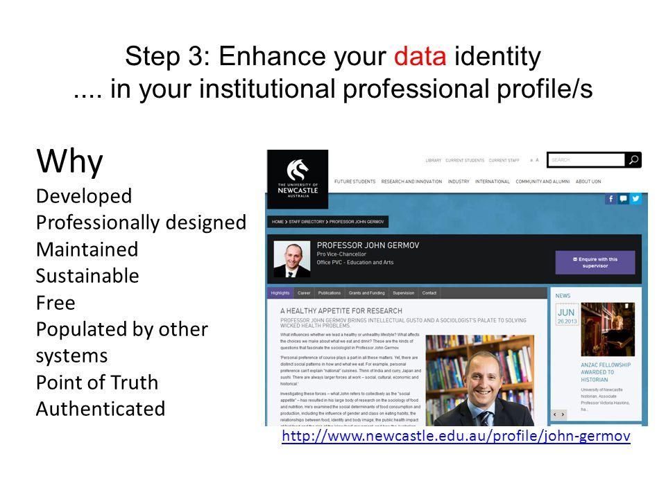 Step 3: Enhance your data identity....