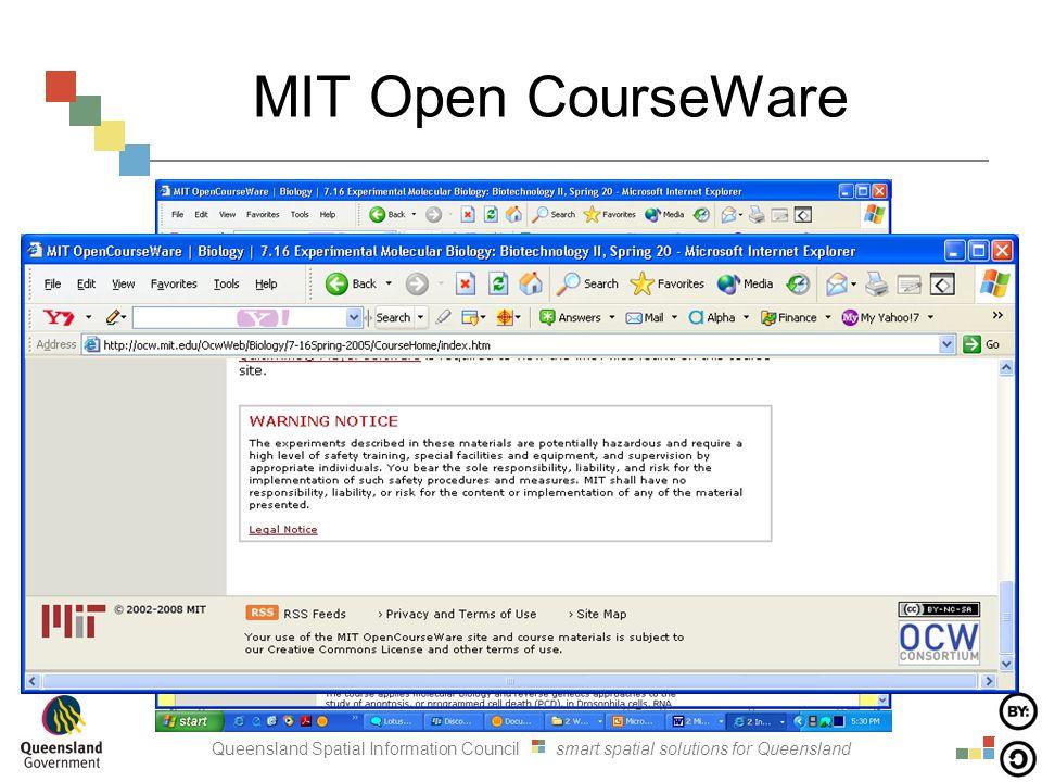 Queensland Spatial Information Council smart spatial solutions for Queensland MIT Open CourseWare