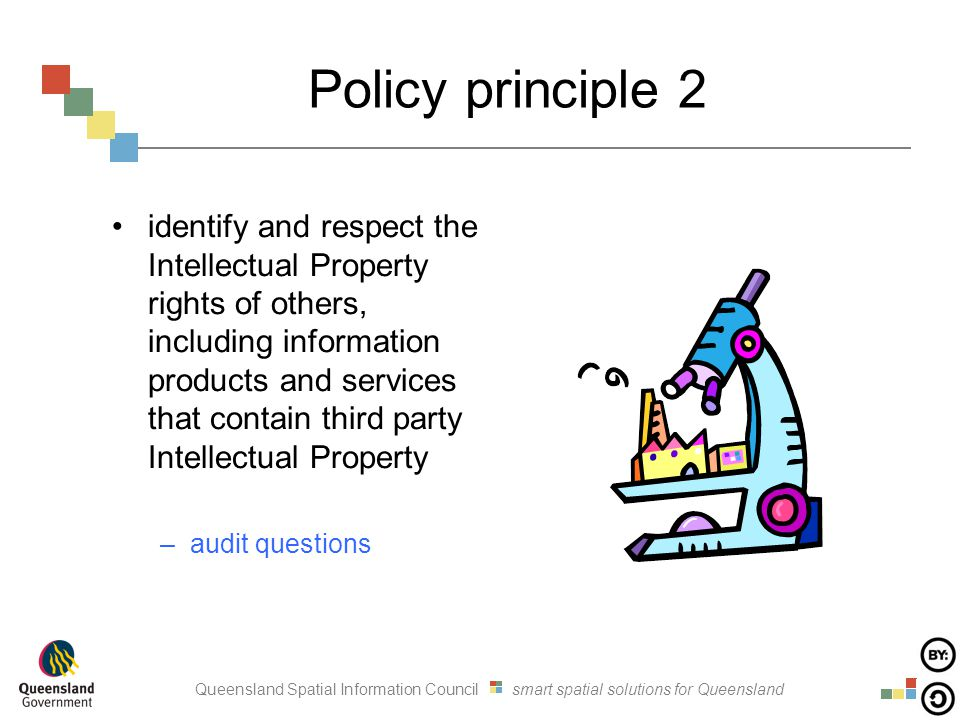Queensland Spatial Information Council smart spatial solutions for Queensland Policy principle 2 identify and respect the Intellectual Property rights