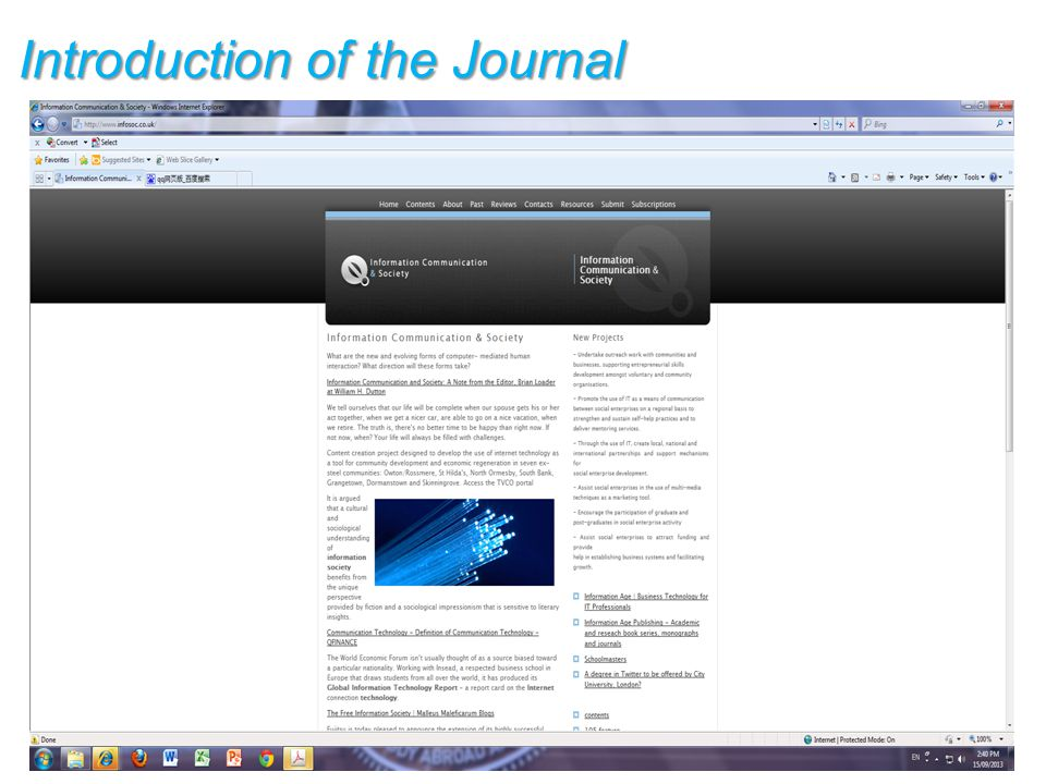 Introduction of the Journal