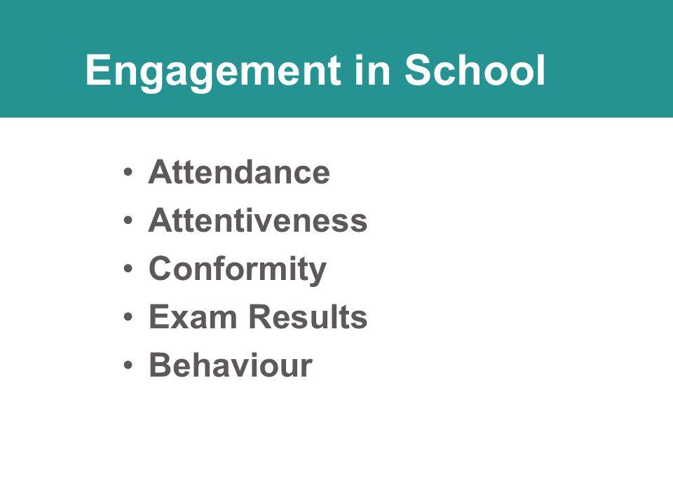 Attendance Attentiveness Conformity Exam Results Behaviour