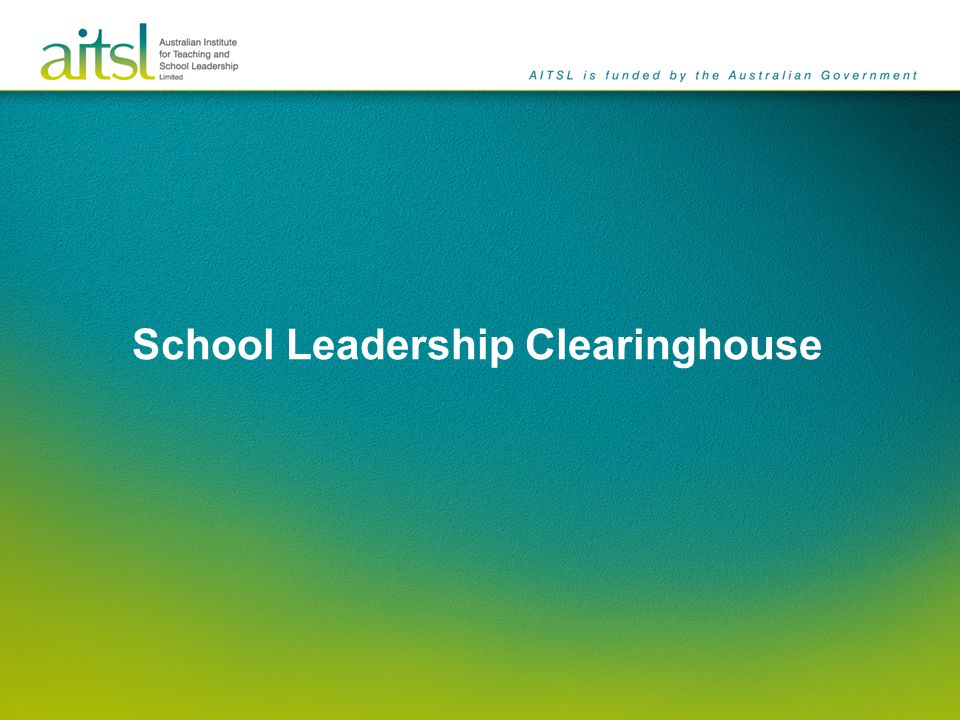The School Leadership Clearinghouse is an up-to-date repository of research and best-practice in the field of school leadership.