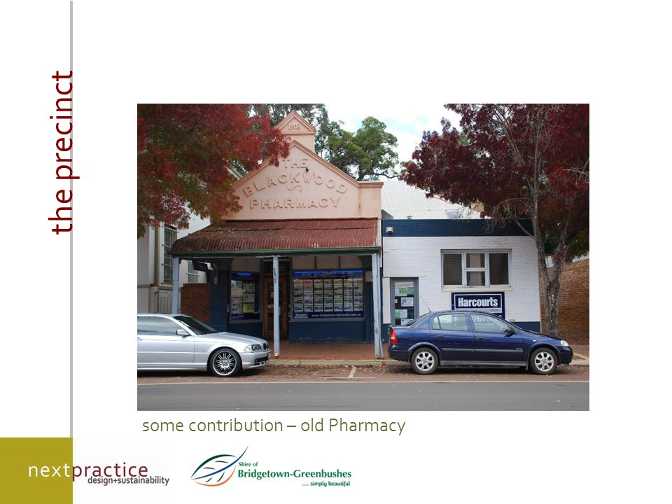 the precinct some contribution – old Pharmacy