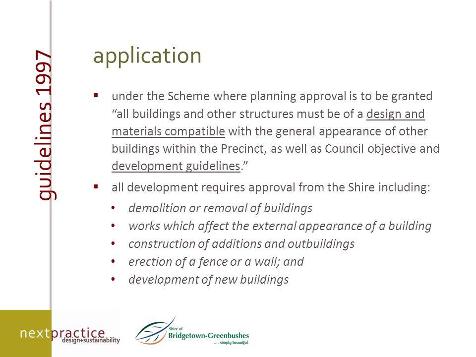 guidelines 1997  Town Planning Scheme No.