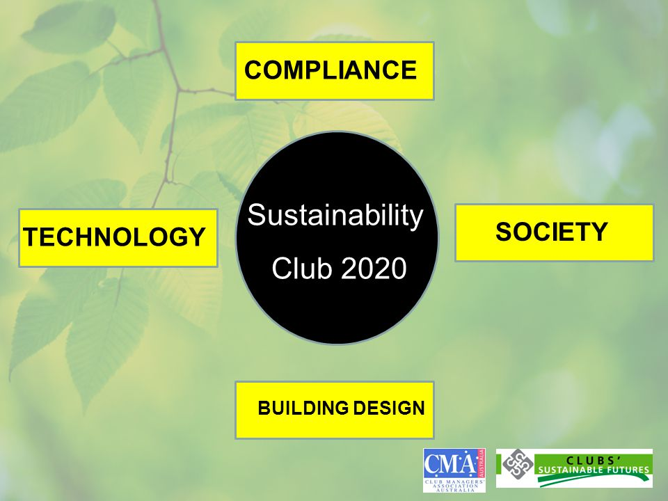 Sustainability Club 2020 COMPLIANCE TECHNOLOGY BUILDING DESIGN SOCIETY