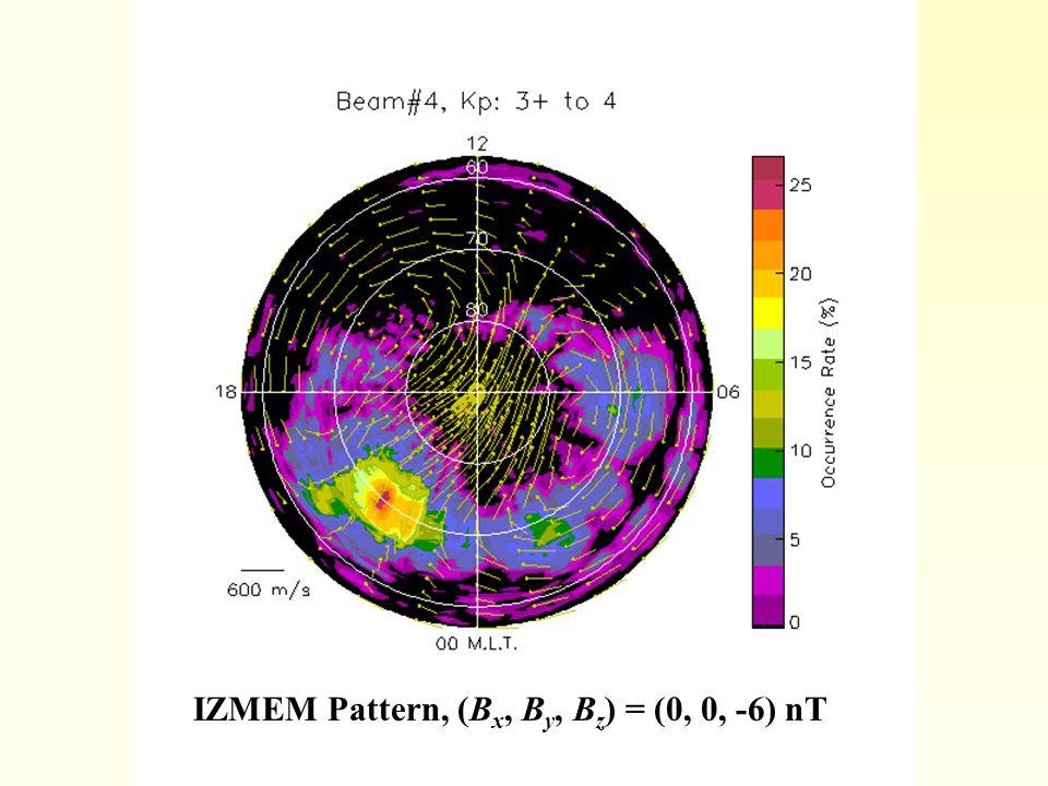 IZMEM Pattern, (B x, B y, B z ) = (0, 0, -6) nT